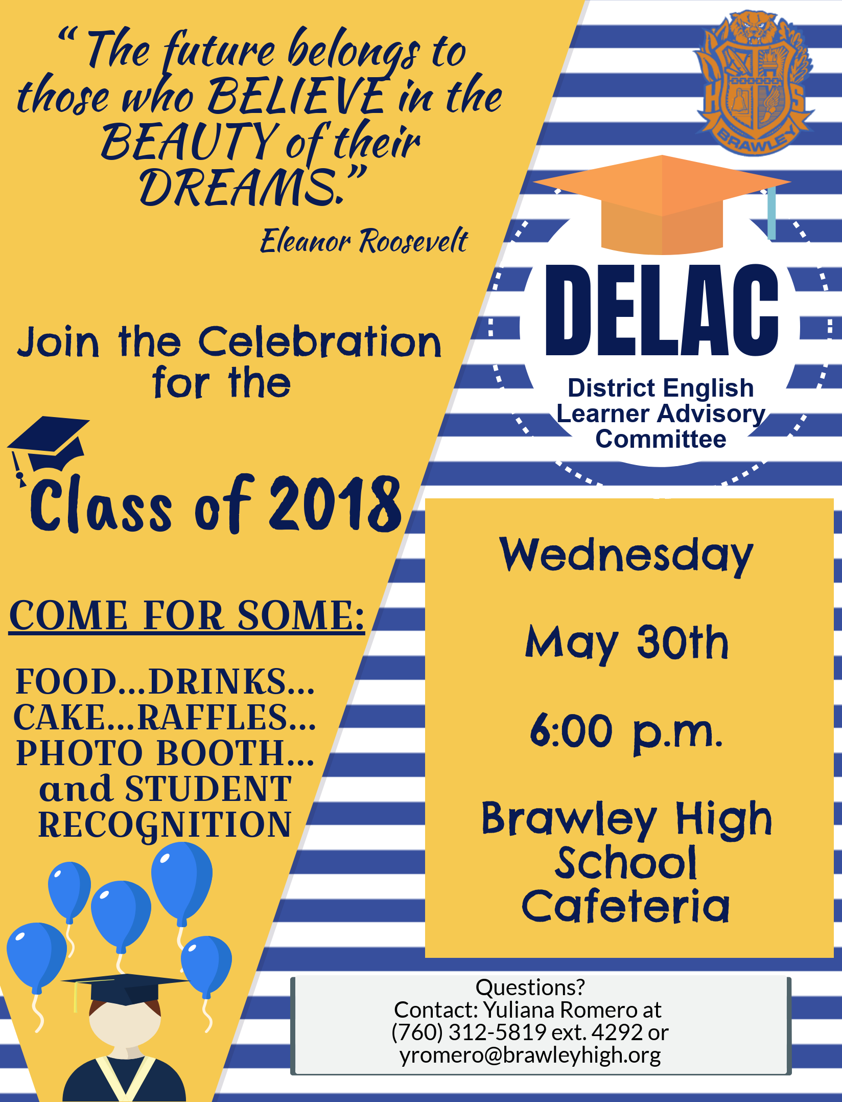 DELAC Class of 2018 Celebration for English Learners